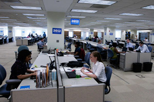 President Obama's re-election headquarters (Frank Polich/Getty Images)
