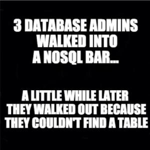 NoSQL bar Joke